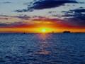 Tropical Hawaiian Sun Before Setting