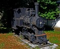 old steam locomotive in retirement