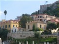 19th century neoclassical houses below the Acropolis, Athens Greece