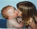 A sisterly kiss