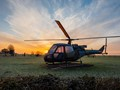 helicopter frosty dawn