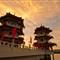 Twin pagodas, Chinese Garden