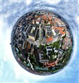 360 degree view from the top of the church of our savior, copenhagen
