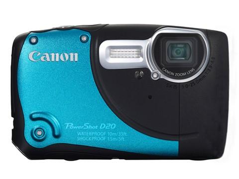 Canon Poxershot D20x - Front