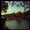 Le Pont Marie sous les lumières de soleil couchant #