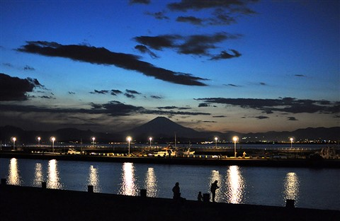 Mt Fuji by evening