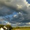 cloudscape at farm