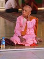 Meditating nun Shwedagon Paya, Yangon, Burma