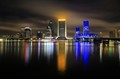 Jacksonville Downtown at night