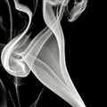 Smoke in black black background
