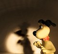 gromit gets a fright