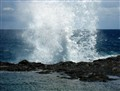 Freezing motion -- Pacific spray
