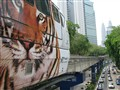 Metro and Petronas tower in Kuala Lumpur