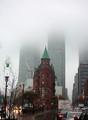 Foggy Downtown Toronto