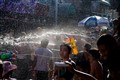 Water Fights in Bangkok Street