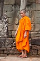 Monk at the Terrace of Elephants, Angkor Thom