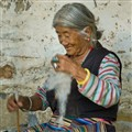 An Elderly Woman in Tashi Ling Tibetan Village in Pokhara...