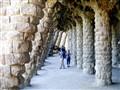 Colonnaded pathway in Park Güell - Barcelona