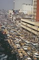 Traffic jam in central Dhaka, Bangladesh