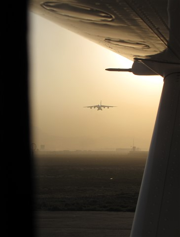 Antonov AN-124 landing at Kabul Int Airport, Afghanistan
