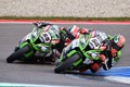 Battle between the No. 1 and 2 at the World Superbike 2015