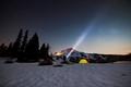 LED Flashlights on Mt Hood