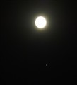 The Moon and Jupitor with its two moons