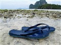 Walking along the Krabi beach