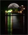 Moonrise at the Ship Cargo Dock