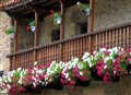 Flowered balcony in Navarra