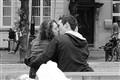 Smitten couple in Brugge
