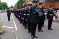 Royal Military Academy Sandhurst parading on the occassion of being granted freedom of the borough of Surrey Heath.