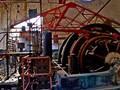 Derelict lift motor for mine shaft elevator.