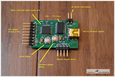 DIY NX AF Adapter - PCB top