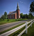 Little County Church (HDR), near Middleburg, Ohio USA