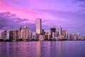 miami bayfront skyline at dusk
