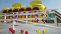 Taken at Southport (UK) Pleasureland Amusement Park, This is the children's yellow submarine ride.
