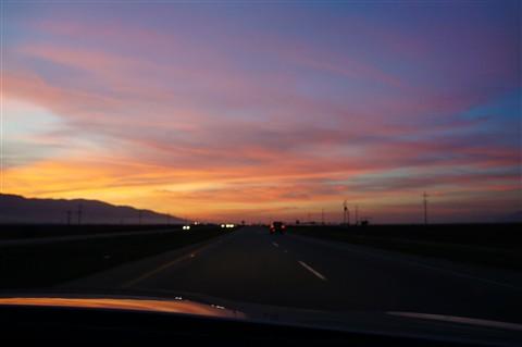 Sunset on US 101