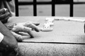 Hand at dominoes