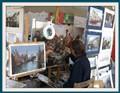 Painter at Brugge, Belgium