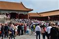 Tourists jam at Forbidden City