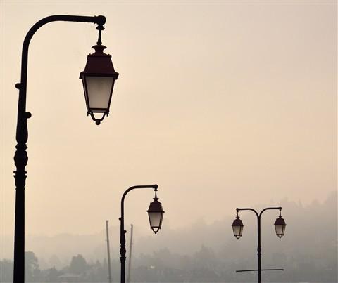 trois lampadaires Honfleur 1