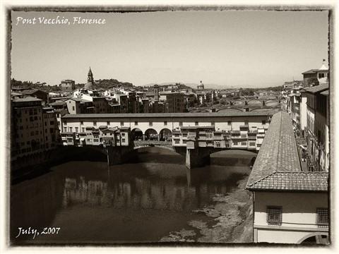 Ponte Vechio & Vasari Corridor 3 SE Sepia sm