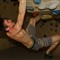 Climber Bouldering