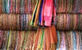 Sarong Stand In Street Market