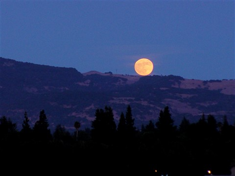 Moonrise in Napa