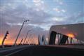 Sheikh Zayed Bridge UAE at sunset