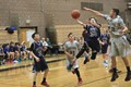 Middle school basketball playoff game in the Kyrene Middle School District in Phoenix, Arizona.