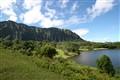 Koolau Mountain Range from Ho'omaluhia Botanical Gardens