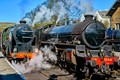 Restored Steam Engines at Grosmont station